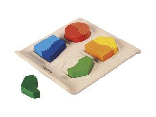 [3歳-]シェープマッチング II〈木製はめこみパズル〉PLANTOYS