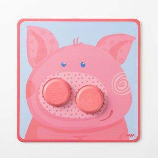 [1歳-]ボタンパズル・アニマル〈型はめパズル〉HABA