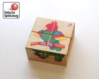 [3歳-]六面体パズル・動物園〈木製絵合わせパズル〉SELECTA