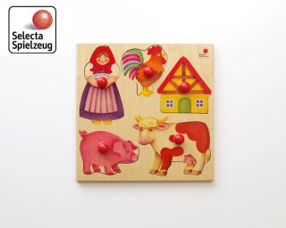 [2歳-]グライフパズル・農場〈木製はめこみ図形〉SELECTA