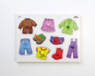 [2歳-]ノブつきパズル・洋服〈はめこみ図形〉MRJJ