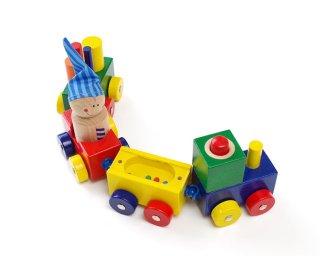 [1歳-]よちよちトレイン〈汽車のおもちゃ〉HABA