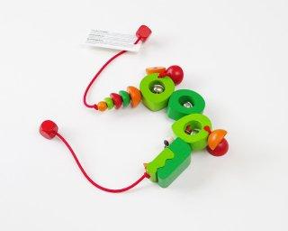 [0歳-]ペンドリー・クロコ〈ベビーカーにつける木のおもちゃ〉SELECTA