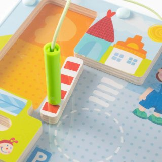 【販売終了】[2歳-]マグネットボード・まちかど〈磁石のおもちゃ〉HABA