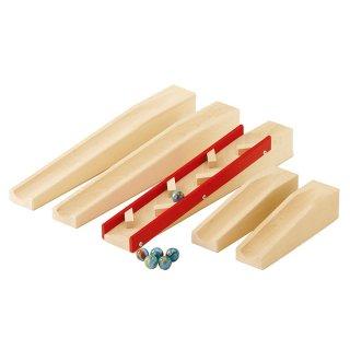 [3歳-]組立てクーゲルバーン・スロープセット|HABA〈積み木・玉転がし〉