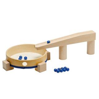 【取扱終了】[3歳-]組立てクーゲルバーン・ドラミングセット〈積み木・玉転がし〉HABA