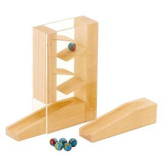 [3歳-]組立てクーゲルバーン・階段セット〈積み木・玉転がし〉HABA