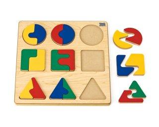 [3歳-]複雑な分割関係を学ぶパズル〈木製はめこみパズル〉TAG