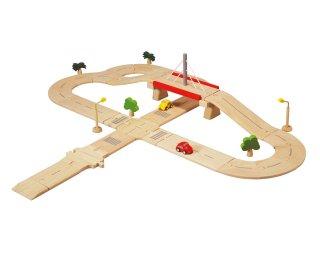 [3歳-]ロードシステムデラックス〈車のおもちゃ〉PLANTOYS