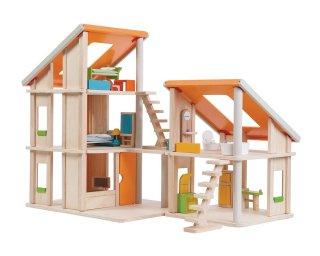 [3歳-]家具付きシャレードールハウス〈ドールハウス〉PLANTOYS