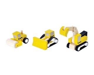 [3歳-]ロードコンストラクションセット〈車のおもちゃ〉PLANTOYS