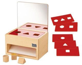 [2歳-]鏡の付いた形の分類箱 TAG