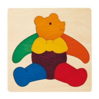 [2歳-]カラフルパズル・くま〈木製はめこみパズル〉George Luck