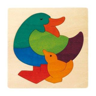 [2歳-]カラフルパズル・あひる〈木製はめこみパズル〉George Luck