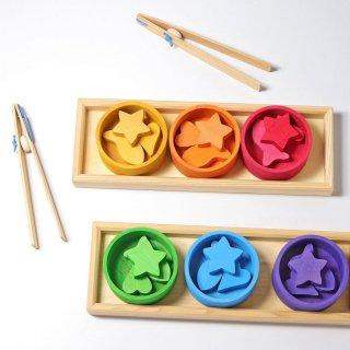 [1歳-]虹のソーティングシェイプ〈ままごとキッチン〉Grimms
