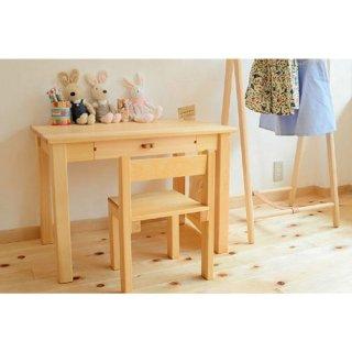 [3歳-]小さい頃の机(積み上げ椅子付き)〈子ども家具〉なかよしライブラリー