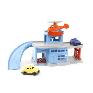 [1歳-]パーキングガレージ〈車のおもちゃ〉Green Toys