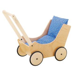 [1歳-]乳母車・白木〈ごっこ遊び〉HABA