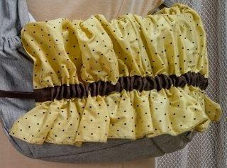 商品型番 K300004 黄色に黒のドット柄