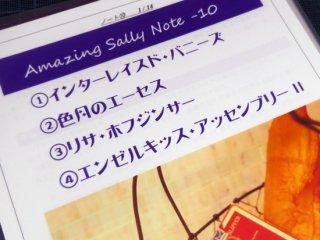 Amazing Sally Note(アメージング・サリーノート) Vol.10 by佐藤喜義(協力:清水邦隆)