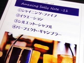 Amazing Sally Note(アメージング・サリーノート) Vol.11 by佐藤喜義(協力:清水邦隆)