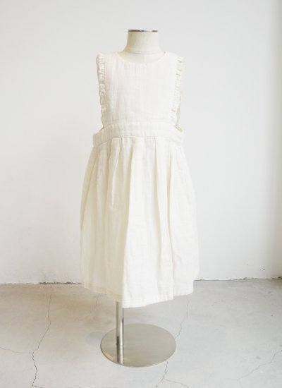 apron dress / off white