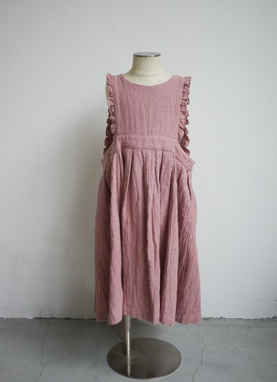 apron dress / smoky pink