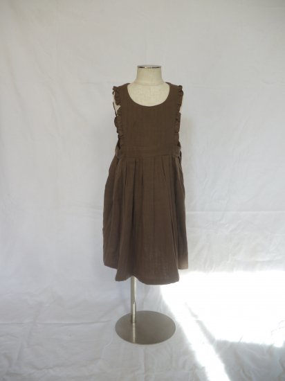 apron dress brown