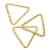 14K Gold filled (14kgf) トライアングルカン (開き 線径0.89mm×10mm) [スパークルグリッター] / 10個