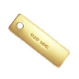 14K Gold filled (14kgf) 刻印 クォリティープレート レクタングル / 20個