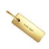 14K Gold filled (14kgf) 刻印 クォリティープレート レクタングル [丸カン付] / 20個