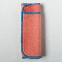 多い日用(L)茜染め 糸:ターコイズブルー