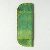 少ない日用(S)えんじゅ+藍染め 糸:黄緑