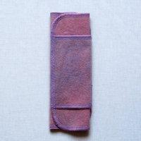 ふつうの日用(M)蘇芳(すおう)+藍染め 糸:藤色