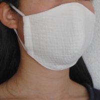 ダブルガーゼ立体布マスク(普通サイズ・白ホワイト)