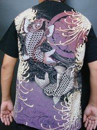 華鳥風月「鯉スラブ天竺半袖和柄Tシャツ」
