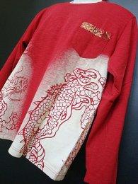 華鳥風月 「龍スラブ天竺長袖和柄Tシャツ」