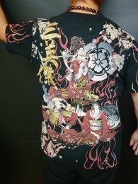 華鳥風月「三英傑 スラブ天竺半袖和柄Tシャツ」