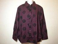 衣櫻 「家紋」和柄長袖シャツ