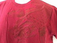 和柄 Tシャツ 半袖 赤大鯉