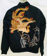 絡繰魂「若沖柄刺繍MA-1ジャケット」