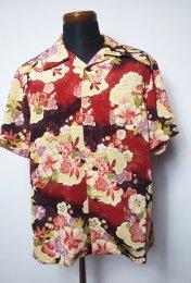 衣櫻 二越縮緬半袖アロハシャツ「松竹梅」