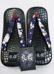 衣櫻 「奈良雪駄サンダル 金粉着物」