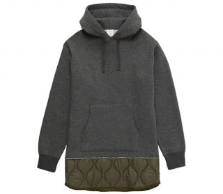 QUILTED MIX PULLOVER SWEAT PARKA 【MR.GENTLEMAN(ミスタージェントルマン)】 通販