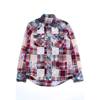 MADRAS FLOWER PATCHWORK WESTERN L/S SHIRT【HOLLYWOOD RANCH MARKET(ハリウッドランチマーケット)】 通販