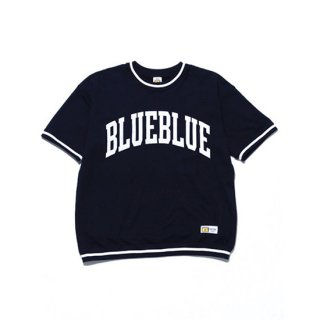 <img class='new_mark_img1' src='https://img.shop-pro.jp/img/new/icons16.gif' style='border:none;display:inline;margin:0px;padding:0px;width:auto;' />RUSSELL×BLUEBLUE BIG LOGO LINE RIB S/S SWEAT【BLUE BLUE(ブルーブルー)】 通販