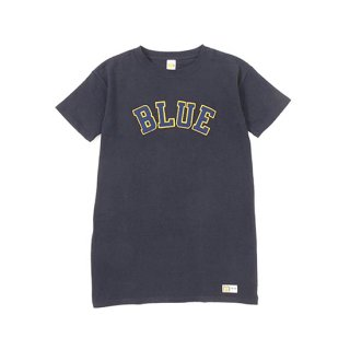 <img class='new_mark_img1' src='https://img.shop-pro.jp/img/new/icons16.gif' style='border:none;display:inline;margin:0px;padding:0px;width:auto;' />RUSSELL×BLUEBLUE WOMENS BLUE PATCH S/S ONE PIECE 【BLUE BLUE(ブルーブルー)】 通販