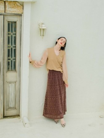 MARTE Lace Long Skirt