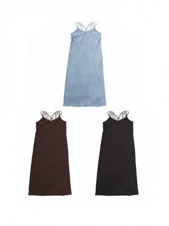 <img class='new_mark_img1' src='https://img.shop-pro.jp/img/new/icons47.gif' style='border:none;display:inline;margin:0px;padding:0px;width:auto;' />MARTE Back Cross Camisole Dress