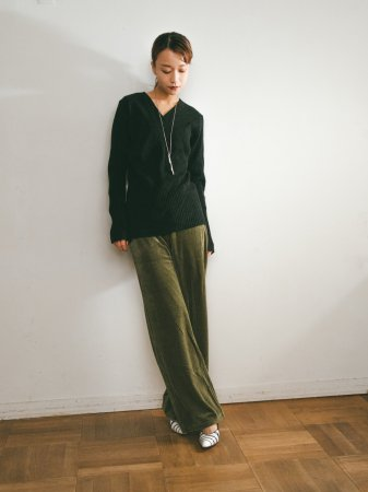 Velours Rib Pants / Khaki, Brown